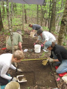 Vermont Archaeological Society at Work at Warren Falls