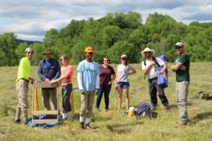 Volunteers from The Nature Conservancy's LEAF Internship program in 2016 (photo by M.Moriarty).